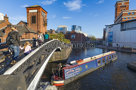 canal boat birmingham canal old line