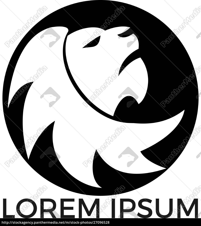 lion, head, logo, vector, design. - 27096528