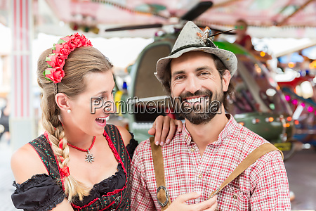 par besoger karrusel pa oktoberfest i
