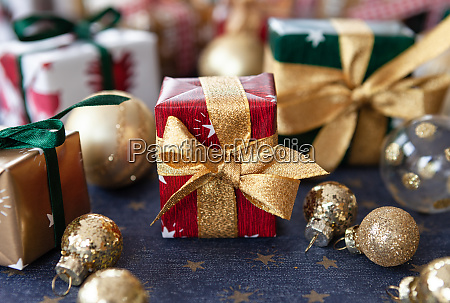 colorful little christmas presents