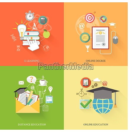 online uddannelse iconerne lejlighed saet hos