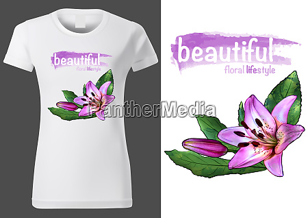 women white t shirt with floral