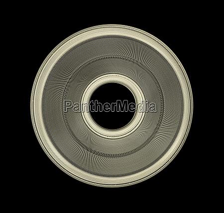 industriel, stål, disk, med, flettet, overflade - 27291934