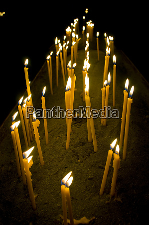 candles burning in the armenian orthodox