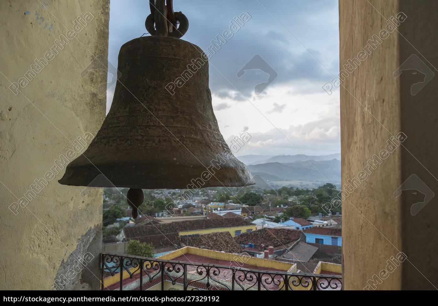 cuba, trinidad., udsigt, over, byen, fra, klokketårnet - 27329192