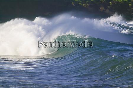 stillehavsstormbolger nordkysten af oahu hawaii