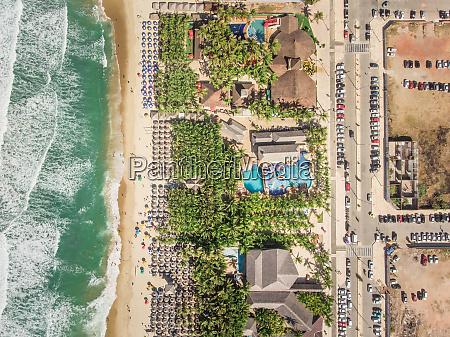 luftfoto af fortaleza strand