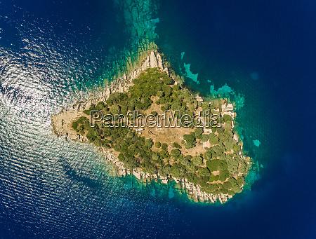 luftfoto af isoleret nikolaos o graekenland
