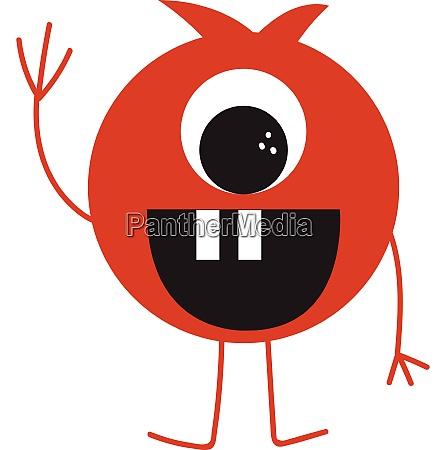 funny, monster, vector, eller, farve, illustration - 27502190