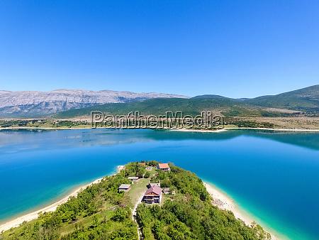 luftfoto, af, peruca, lake, næststørste, kunstige, sø - 27625944