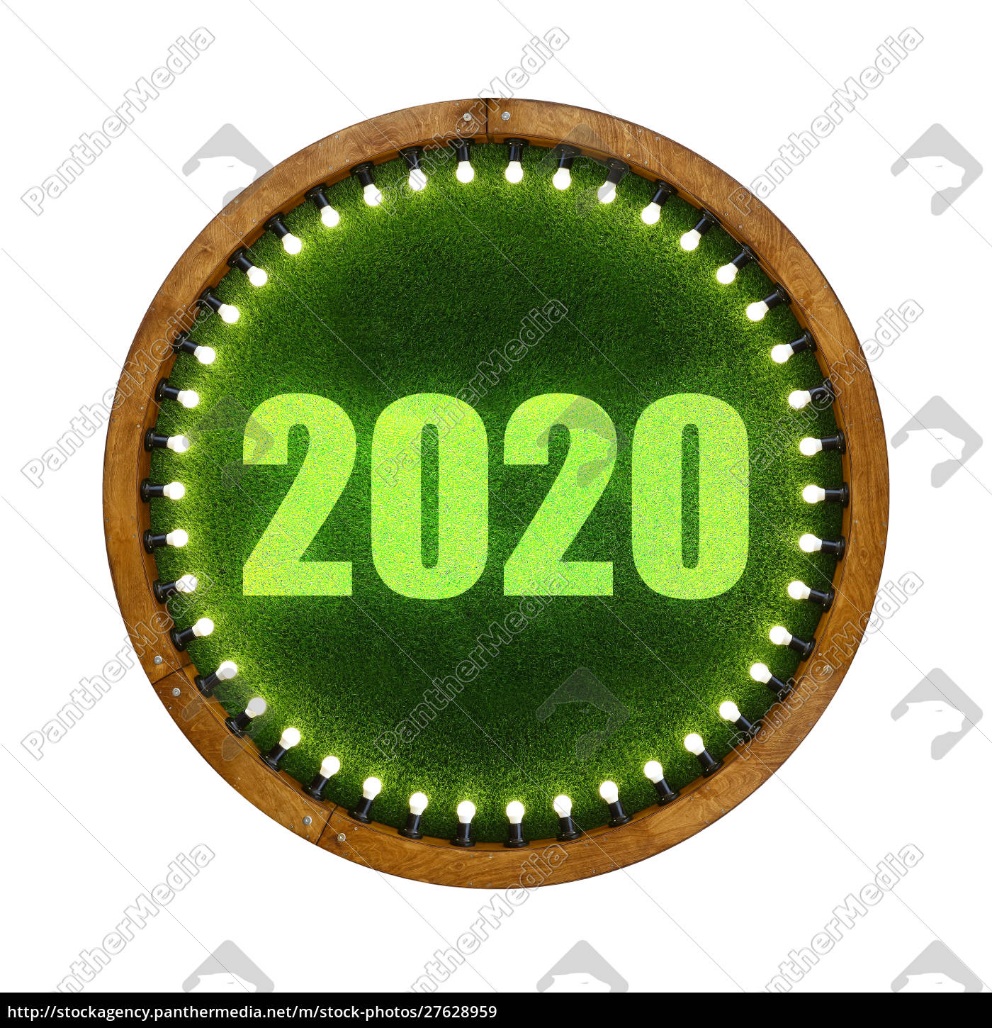 2020, sign, over, round, green, grass - 27628959