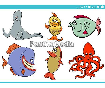 havliv dyrearter tegn samling