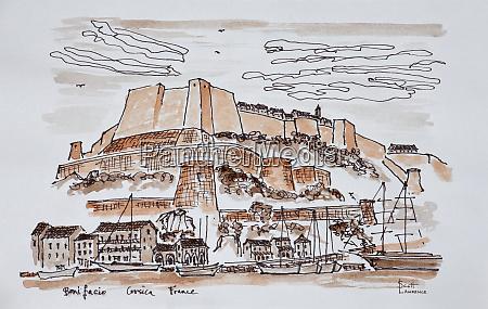 fortified city of bonifacio corsica france