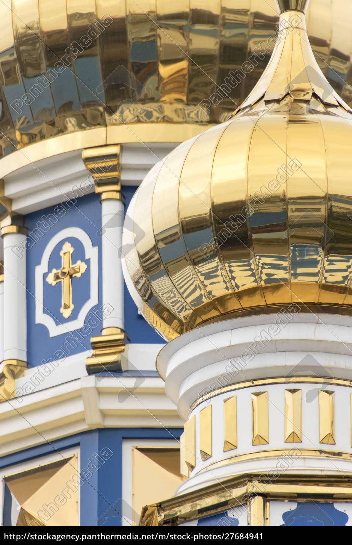 dome, detalje, russisk-ortodokse, kirke, odessa, ukraine. - 27684941
