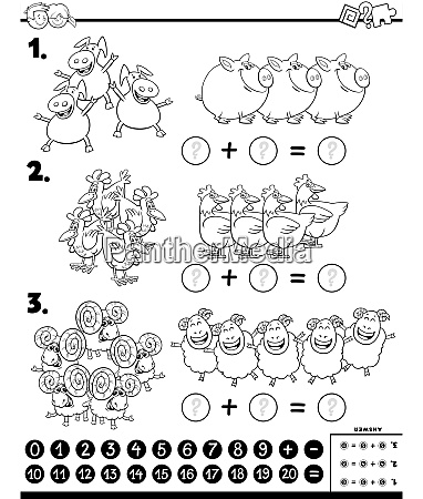 addition, educational, task, color, book, with - 27694886