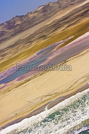 skeleton coast namibia areal view of