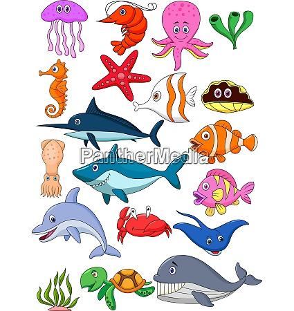 havets liv tegneserie saet
