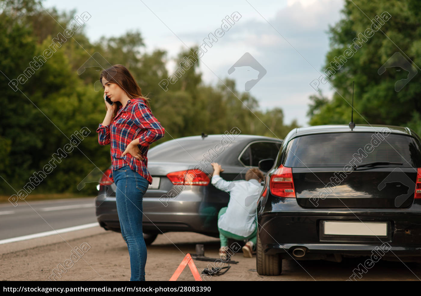 male, and, female, drivers, on, road, - 28083390