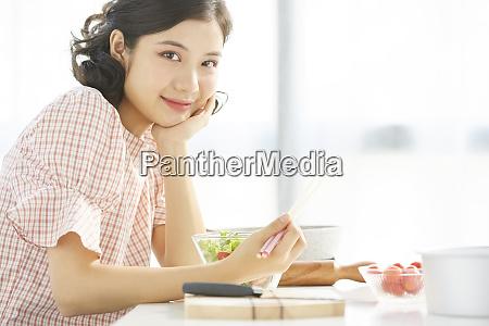 kvindelige livsstil kokken