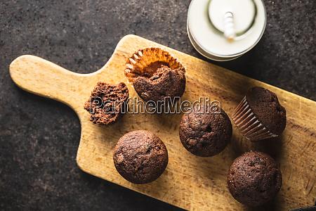 velsmagende, chokolade, muffins., søde, cupcakes. - 28135250