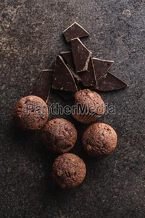 velsmagende, chokolade, muffins., søde, cupcakes. - 28135277