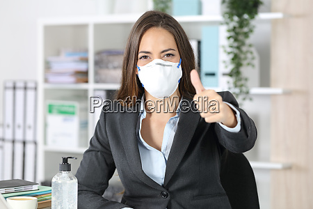executive ifort maske med tommelfingre op