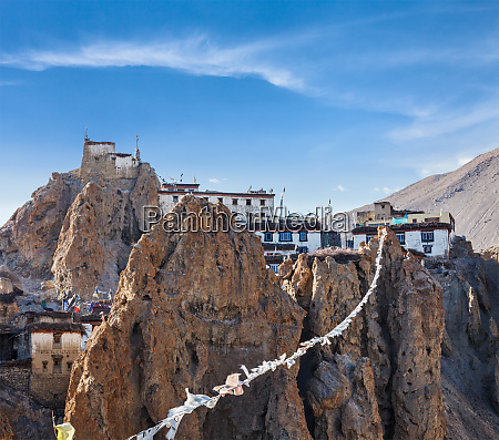 dhankar gompa tibetan buddhist monastery and