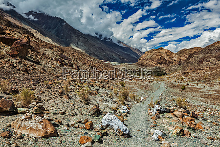 foot path to sacred buddhist lake