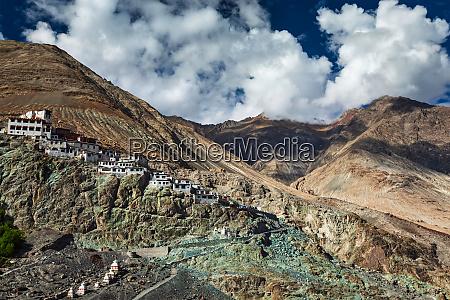 diskit gompa nubra valley ladakh india