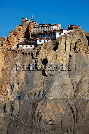 dhankar monastery spiti valley himachal pradesh