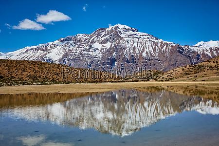 dhankar lake spiti valley himachal pradesh