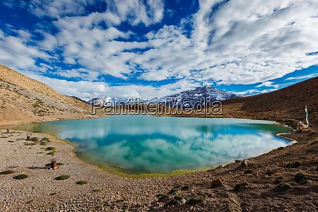 dhankar lake in spiti valley himachal