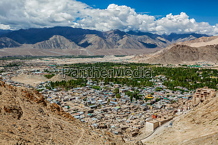 aerial view of leh ladakh india