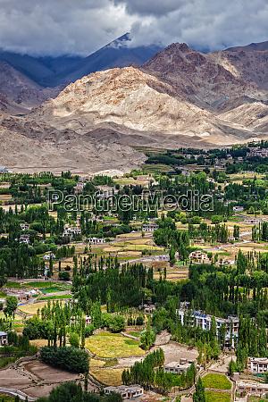 leh city in himalayas ladakh india