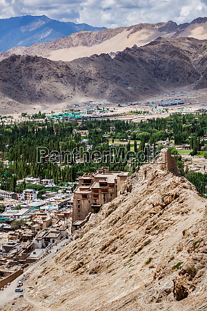 view of leh town from above