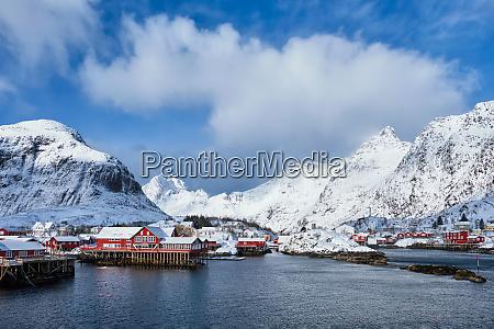 a village on lofoten islands norway