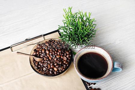 stilleben med kaffe