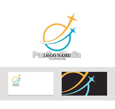 logo ikon firmakort hurtig stjerne vektor