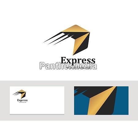 logo ikon firmakort aroow vektor illustration