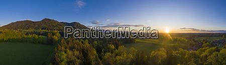tyskland bayern bad heilbrunn drone udsigt