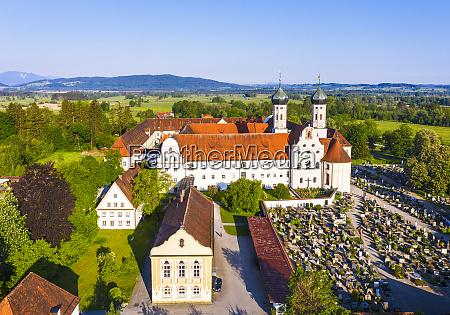 tyskland bayern drone udsigt over bibliotek
