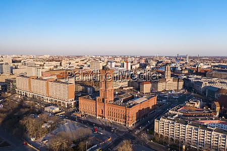 tyskland berlin luftfoto af rotes rathaus