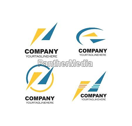 abstrakt logo ikon for virksomhedens vektor