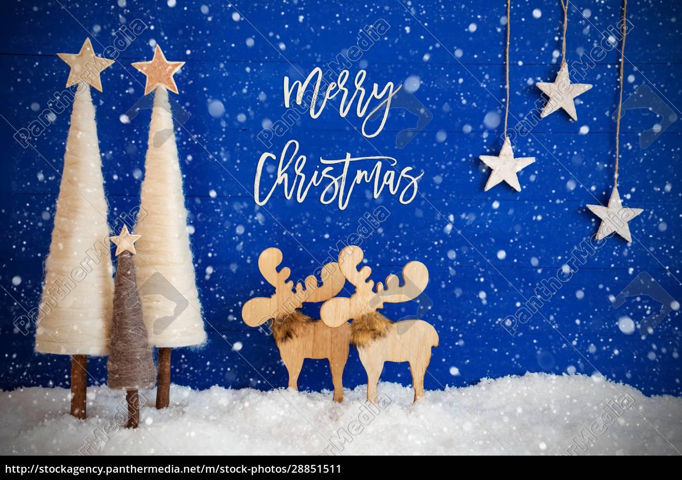 juletræ, elg, sne, stjerne, tekst, glædelig, jul, snefnug - 28851511