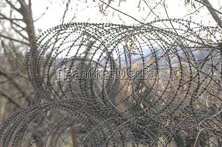barbed, wire, fence, at, the, border - 28908678