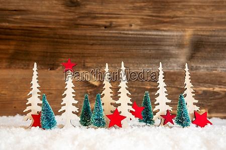 juletrae sne rod stjerne kopi plads