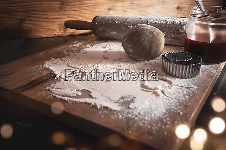 baging ingredienser til jul cookies