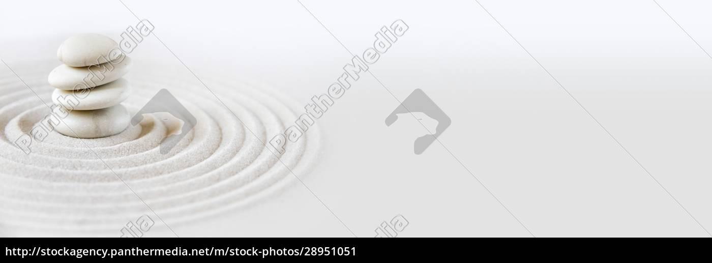 zen, japansk, have, baggrund., vandret, banner - 28951051