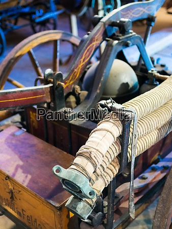 old, water, hose, at, fire, equipment - 28954229
