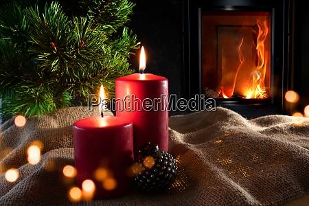 julepynt med pejs